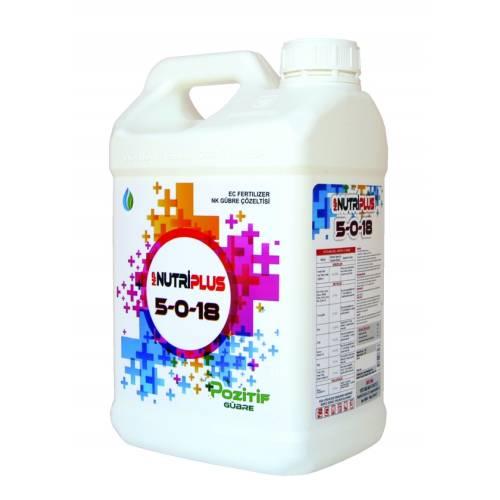 Nutriplus 5-0-18 Potasyumlu Sıvı Gübre 10 Lt.