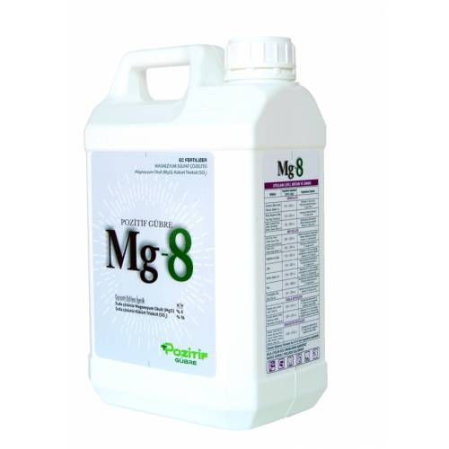 Mg-8 % 8 Magnezyum Sülfat İçerikli Sıvı Gübre 5 Lt.