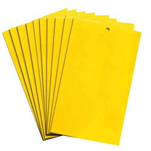10 cm x 25 cm Sarı Kart Yapışkan Tuzak 10 Adet