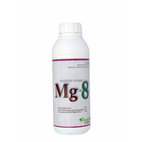 Mg-8 % 8 Magnezyum Sülfat İçerikli Sıvı Gübre 1 Lt.